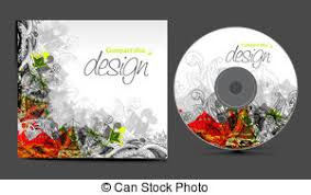 vector cd cover design template with copy space vector eps