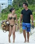 Lorenzo Lamas hits Miami Beach with his bikini-clad wife Shawna