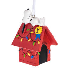 peanuts snoopy on his doghouse ornament by hallmark retrofestive ca