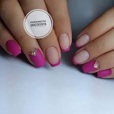 french manicure with rhinestones the best images bestartnails com