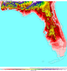 Elevation Map Of Florida by Topographical Map Of Florida With County Pictures To Pin On