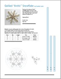 quilling snowflake pattern arctic quilling free pattern and