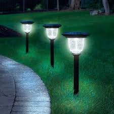 Best Solar Landscape Lights The Best Solar Walkway Light Hammacher Schlemmer For The