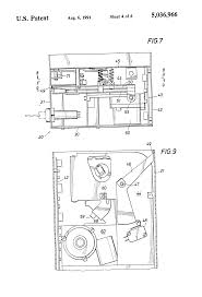 patent us5036966 newspaper vending rack coin box incorporating a