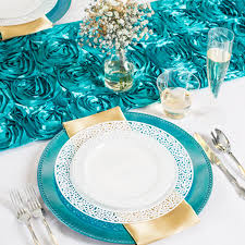 6 turquoise beaded acrylic charger plates replaced smarty