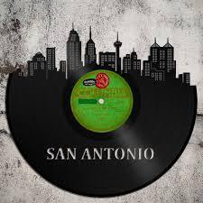 skyline wall art san antonio skyline cityscape vinyl record