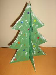 mama pea pod standing paper christmas trees
