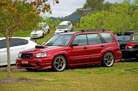 subaru forester stance chris u0027s my04 xt forester luxury garnet red pearl builds and