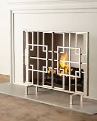 contemporary fireplace screen modern fireplace screen forms