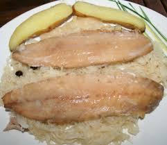 cuisiner le hareng filets de harengs fumés sur lit de choucroute amafacon