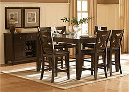 Dining Room Table Counter Height Wine Country Furniture Crown Point Merlot Counter Height Dining