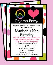 sleepover invitation printable peace love and pajamas