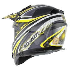 yellow motocross helmets stealth hd210 droid yellow motocross helmet mx enduro off road acu