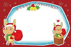 vector cartoon reindeer border christmas background material