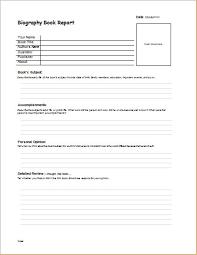 biography u0026 internship report templates formal word templates