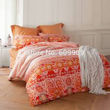 moroccan bedding orange bohemian and boho style  egyptian  with moroccan bedding orange bohemian and boho style  egyptian cotton soft  fabric bed sheets duvet cover set  piecesin bedding sets from home   garden on  from aliexpresscom