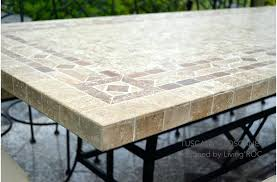 Tile Top Patio Table Tile Top Table Brilliant Tile Top Outdoor Dining Table Tile Top