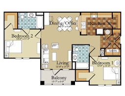 two bedroom apartment floor plans gallery including plan for
