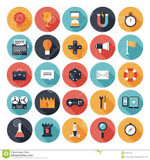 design games to download game design flat icons set stock vector illustration of classic