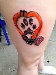 dog memorial tattoos on pinterest pet memory tattoos dog paw
