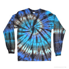 Nautilus Tie Dye Long Sleeve T Shirt Blue On Sale For 23 99 At