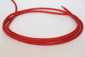 free shipping red cloth covered color cable fabric braided wire