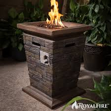 natural gas outdoor patio heater royal fire tall square gas outdoor patio heater firepit royal