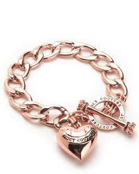 rose gold heart charm bracelet images Designer collection jewelry juicy couture jpg