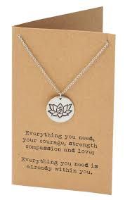 Lotus Flower With Om Symbol - natasha yoga necklace with lotus flower and om symbol engraved on