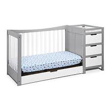 Graco Convertible Crib With Changing Table Graco Remi 4 In 1 Convertible Crib And Changer Pebble Gray White
