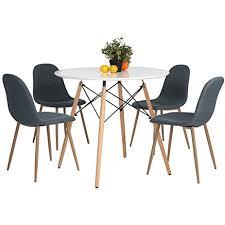 Dining Table Modern Round Amazon Com Kitchen Dining Table White Round Coffee Table Modern