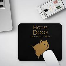 Meme Lover - doge mousepad game of thrones mouse pad funny doge meme lover gift