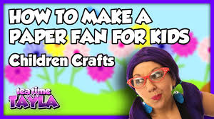 children crafts how to make a paper fan for kids on tea time