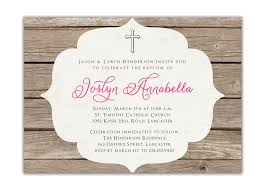 Sample Of Invitation Card For Christening Baptism Invitation Rustic Christening Invitation Or Boy