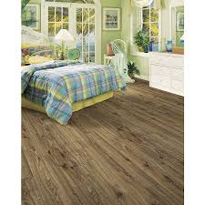 Laminate Flooring With Built In Underlay Shop Allen Roth 4 96 In W X 4 23 Ft L Driftwood Oak Handscraped