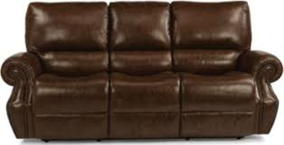 Flexsteel Reclining Sofas Flexsteel Colton Leather Power Reclining Sofa Homemakers Furniture