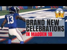 new celebrations in madden 18 how to celebrate