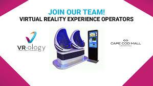 part time virtual reality ride operators cape cod mall ma vr