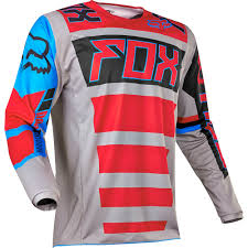 mens motocross jersey fox racing 2017 mx new 180 falcon grey red blue jersey pants