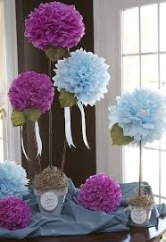 paper flower centerpieces centerpiece tissue paper flowers for a bridal shower so a