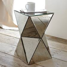 west elm accent table faceted mirror side table west elm 199each 12 dx20 5 h could