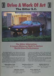 beaterblog bitter s c is a work of art and other 1986 luxury car ads
