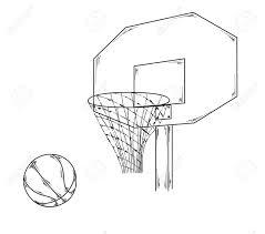 basketball ball net sketch royalty free cliparts vectors and