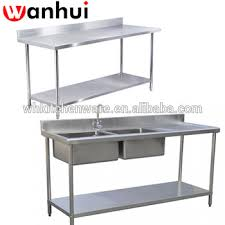 Stainless Kitchen Work Table by Assemble Two Tier Floding Sink Bench Stainless Steel Kitchen Work