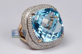 rings topaz images Womens diamond blue topaz cocktail ring 18k rose gold 32 75ct jpg
