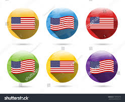 Red Blue Yellow Flag Set Collection Group Six Colorful Red Stock Vector 278958278