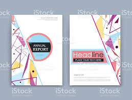 abstract composition a4 brochure title sheet geometric shape