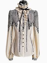 vintage blouse vintage lace shirt with puff sleeves abaday