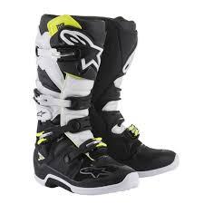 white motocross boots 2018 alpinestars tech 7 motocross boots black white 1stmx co uk