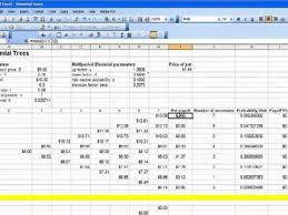 Decision Tree Excel Template Excel Binomial Tree